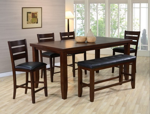 chairs height dinette room rectangular of long set wooden narrow counter dining and round sets table high bar size full