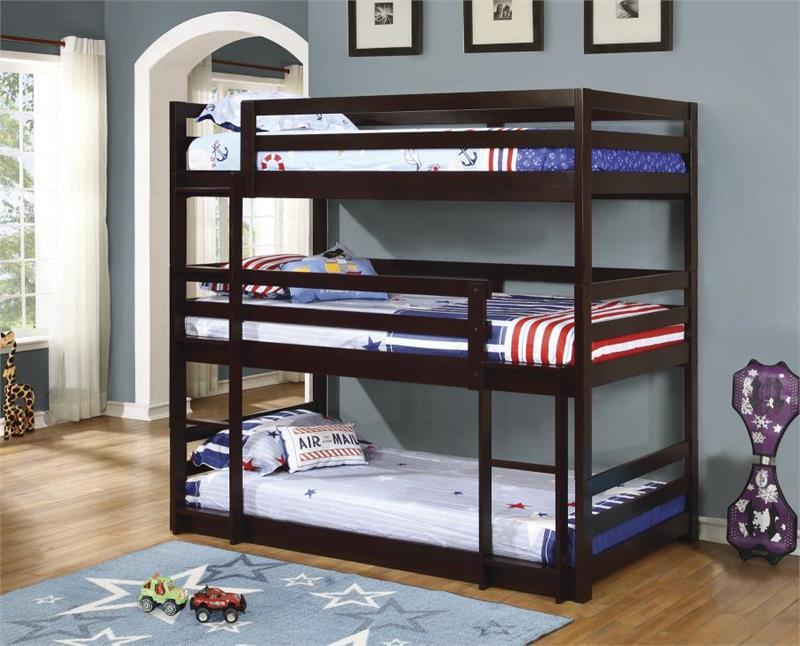 400302 Co Sandler Triple Bunkbed Twin Bunk Bed Sale