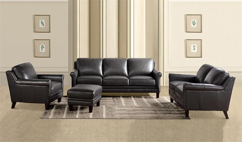 6538 Li Andover Grey Leather Italia Collection Sale