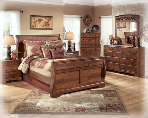 B258 Sd Timberline Mdf Sleigh Bedroom Collection