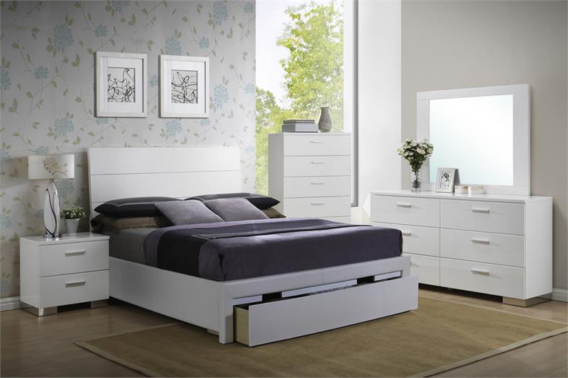 F9284 Up White Bedroom Set Sale