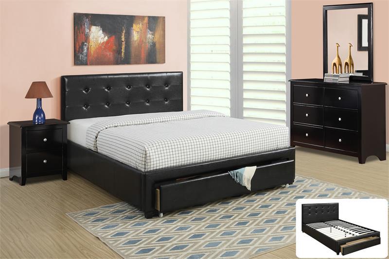 F9313-UP Black Platform Bedroom Set Sale
