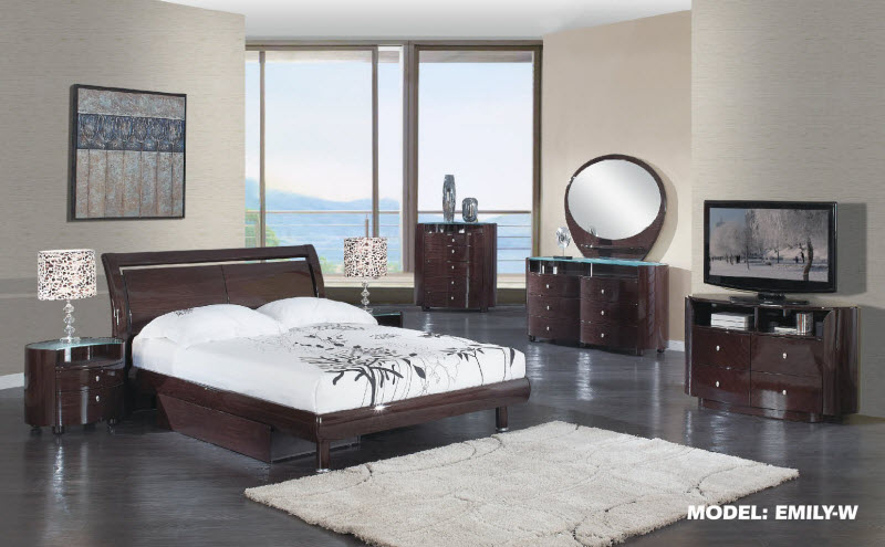 Cosmo Gl Wenge Bedroom Collection