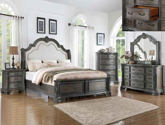 B1120 Cm Sheffield Antique Bedroom Collection