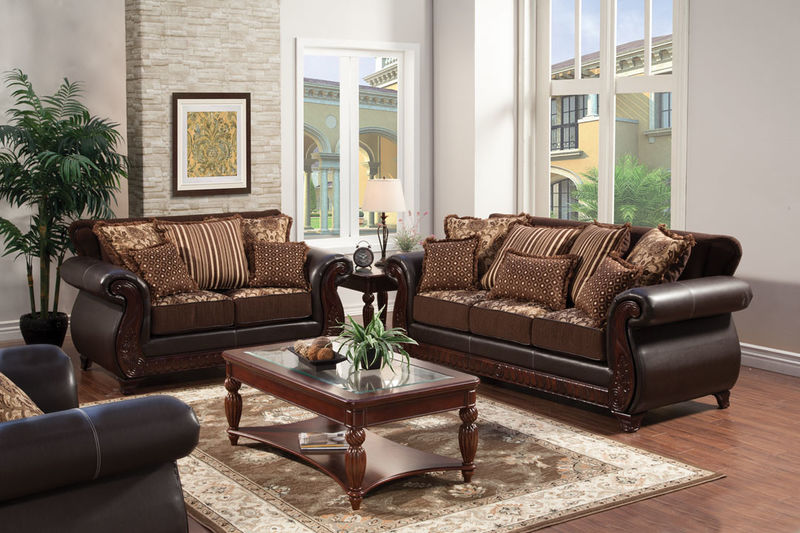Sm6106 Foa Franklin Brown Living Room Sale