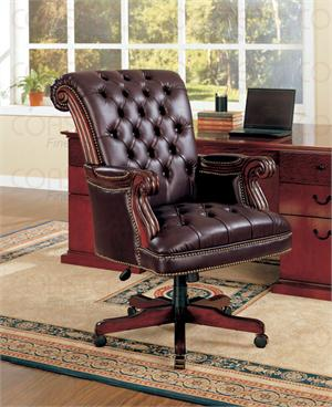 800142 co dark brown office chair